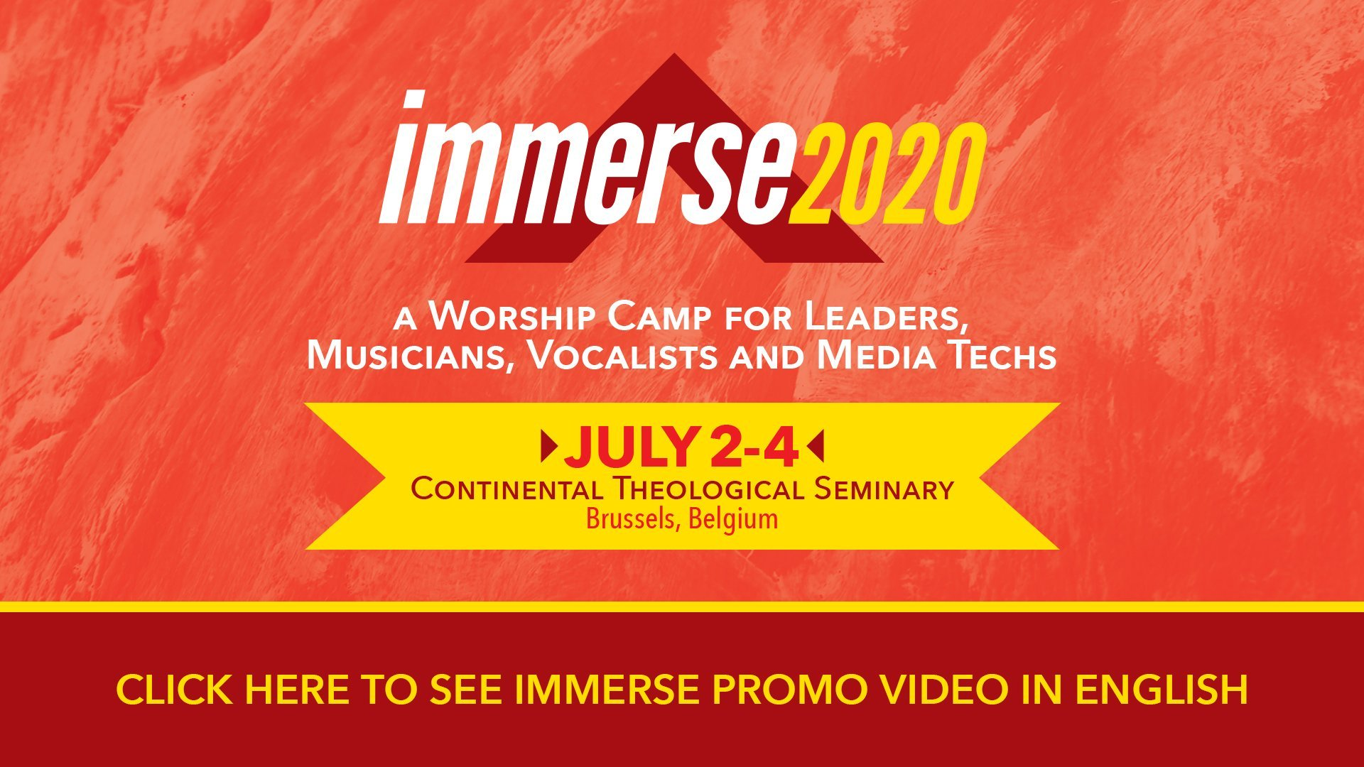 Announcing Immerse 2020 Dates